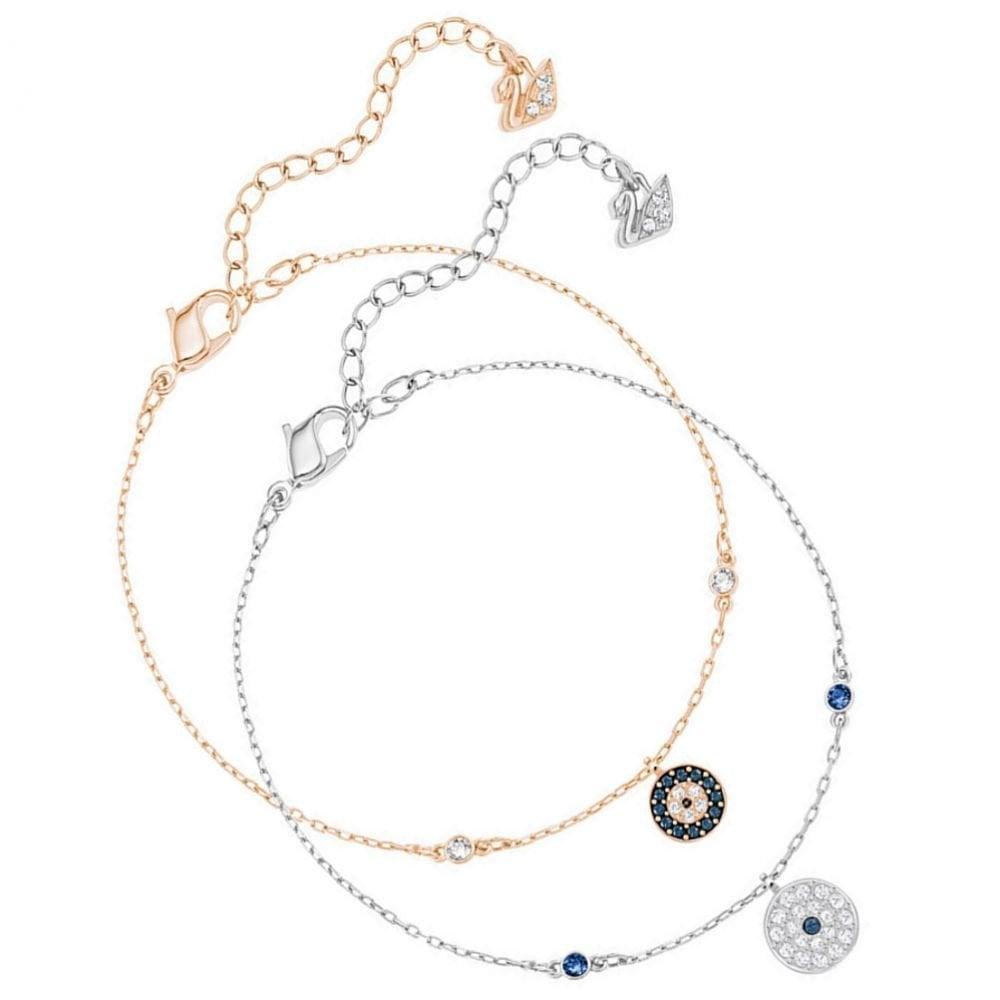 9b6ceaec7ac Swarovski Crystal Wishes Evil Eye Bracelet Set 5272256
