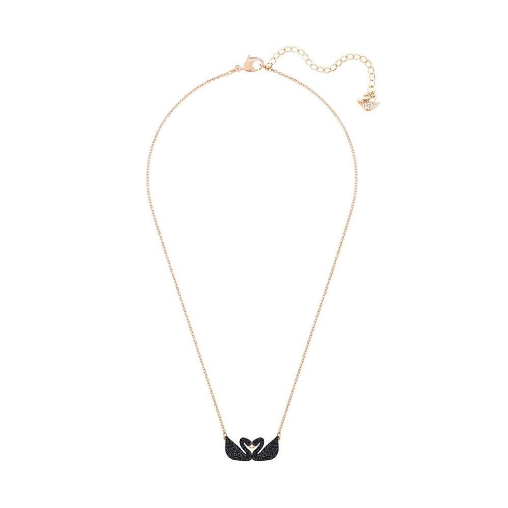 0335abefb6f09 Swarovski Swarovski Iconic Black Swan Double Necklace 5296468
