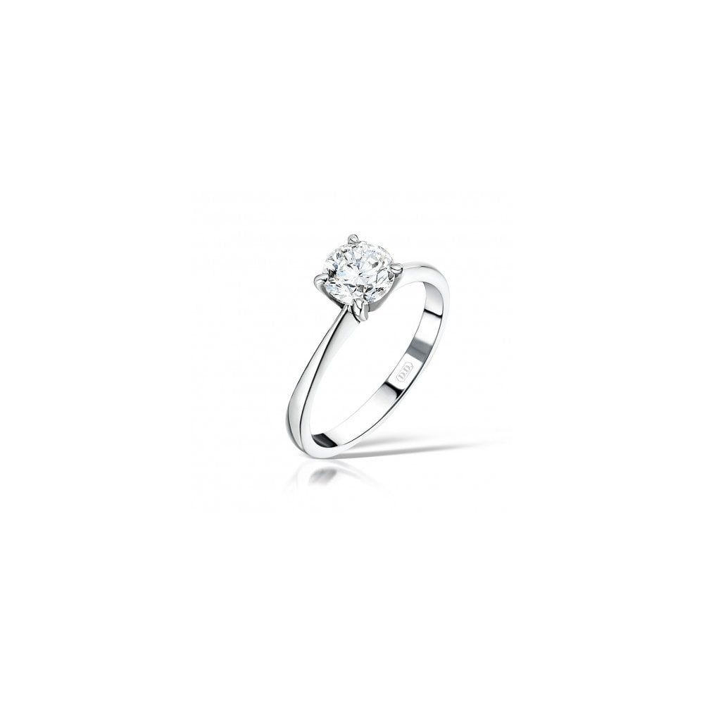 a86f19c74d0 Round Tiffany Set Solitaire Diamond Ring