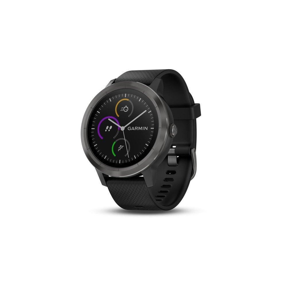 Garmin Vivoactive 3 Black Ion and Black Strap Watch 010-01769-10 99cc4f6aa96