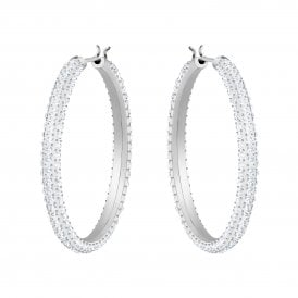5454bd9b5 Swarovski Stone Hoop Pierced Earrings 5389432