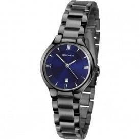 259c5febc0f1 Sekonda Ladies Blue Dial Black Ion Watch 2287