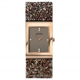 Seksy Rocks Brown Swarovski Ladies Watch 2580