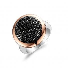 Milano Stainless Steel Ring.Stainless Steel Ti Sento Milano Jewellery